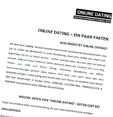 online dating artikel